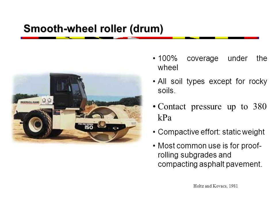 Smooth-wheel roller (drum)