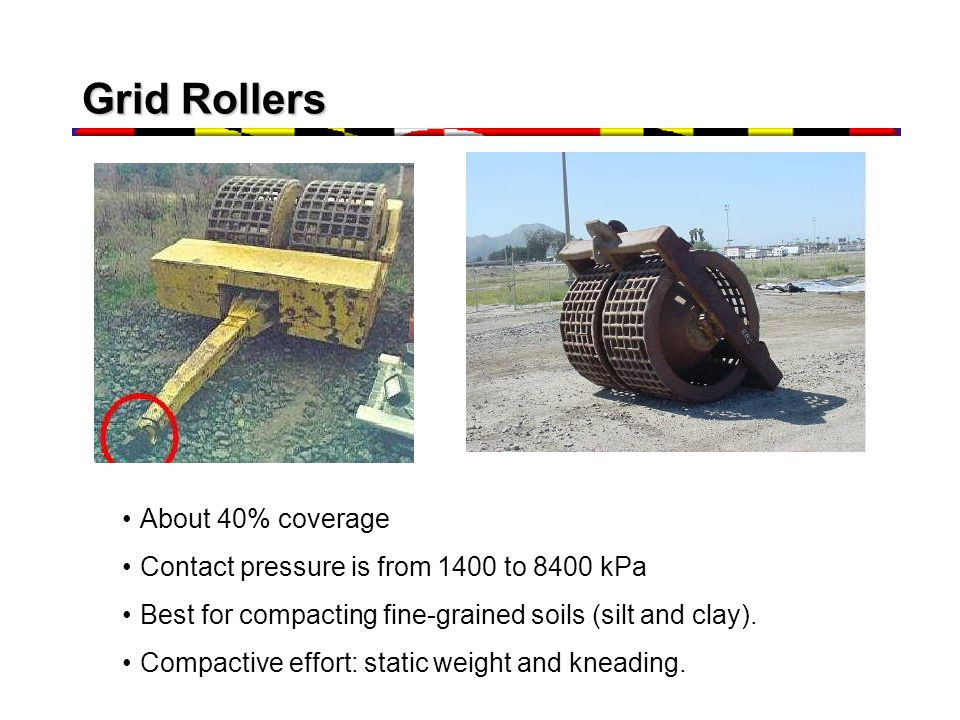 Grid Rollers About 40% coverage