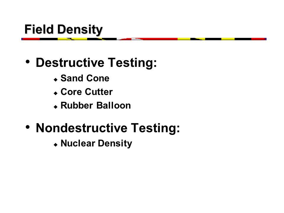 Nondestructive Testing:
