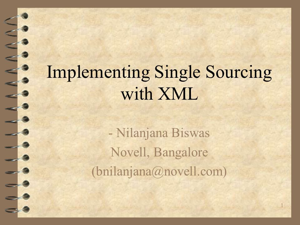 Implementing Single Sourcing with XML