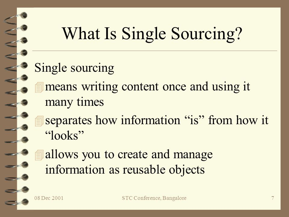 What Is Single Sourcing