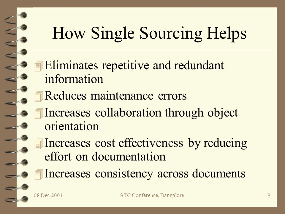 How Single Sourcing Helps