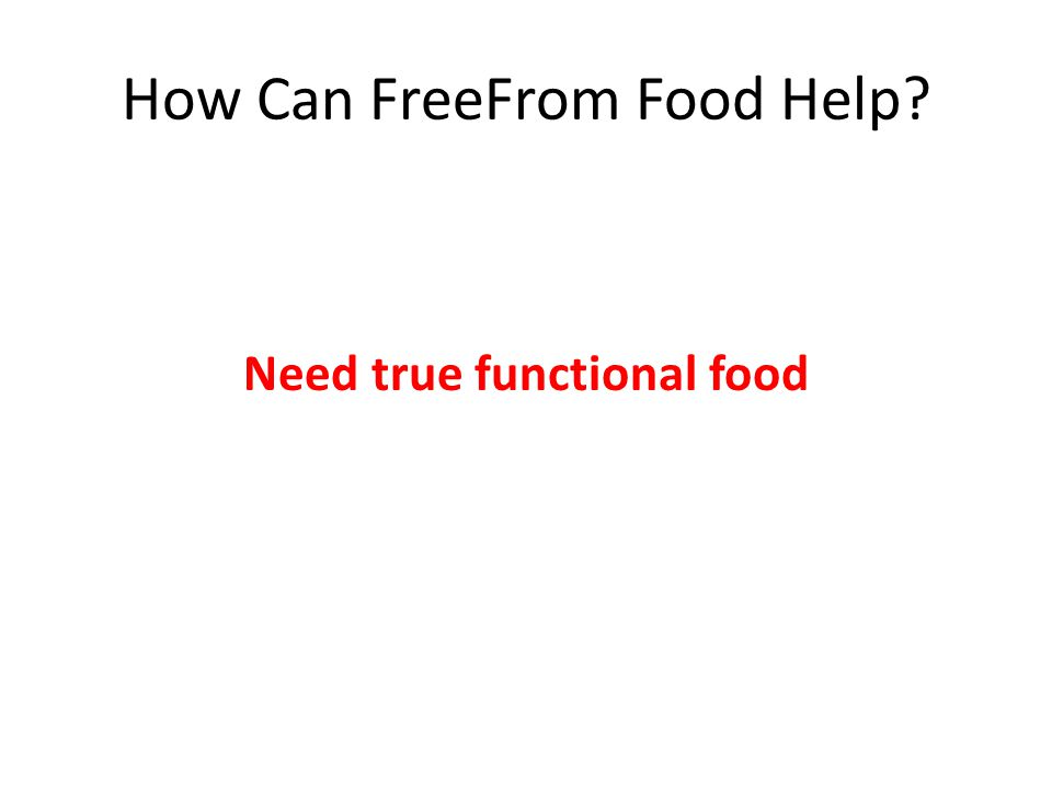 How Can FreeFrom Food Help