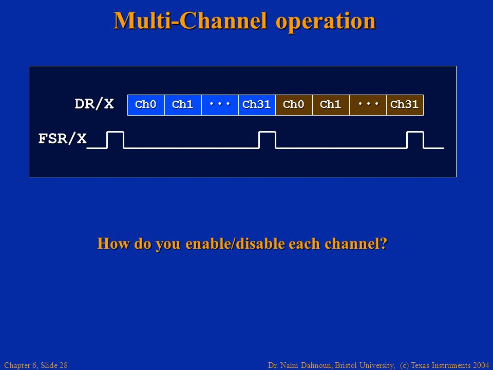 Multi-Channel operation