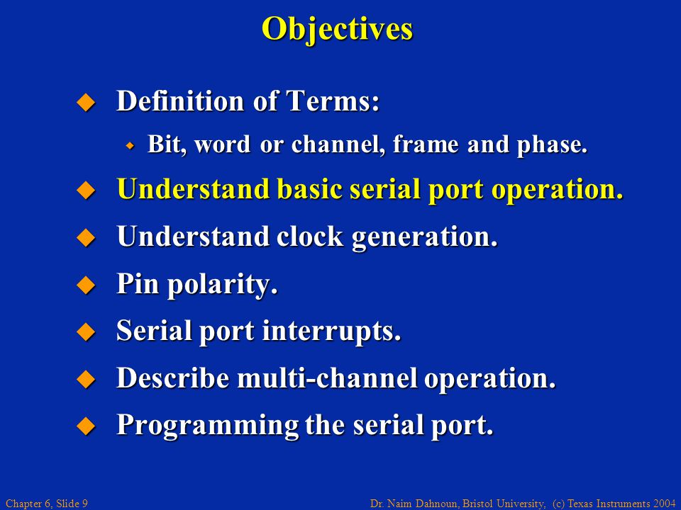 Objectives Definition of Terms: