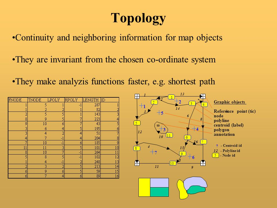 Topology Continuity and neighboring information for map objects