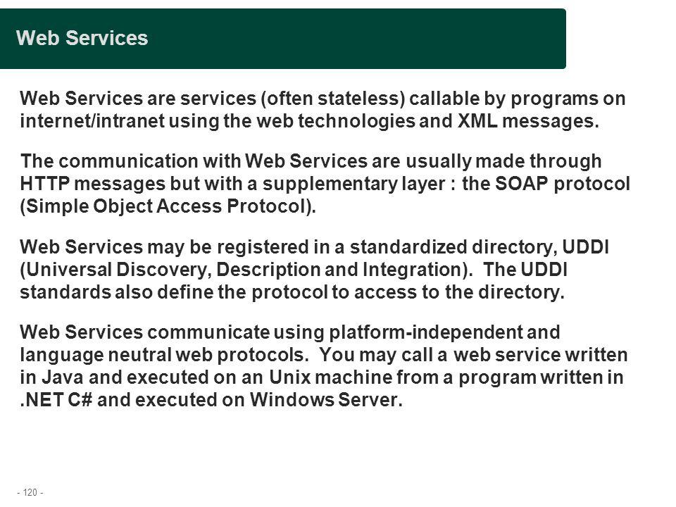 Presentation title Web Services.