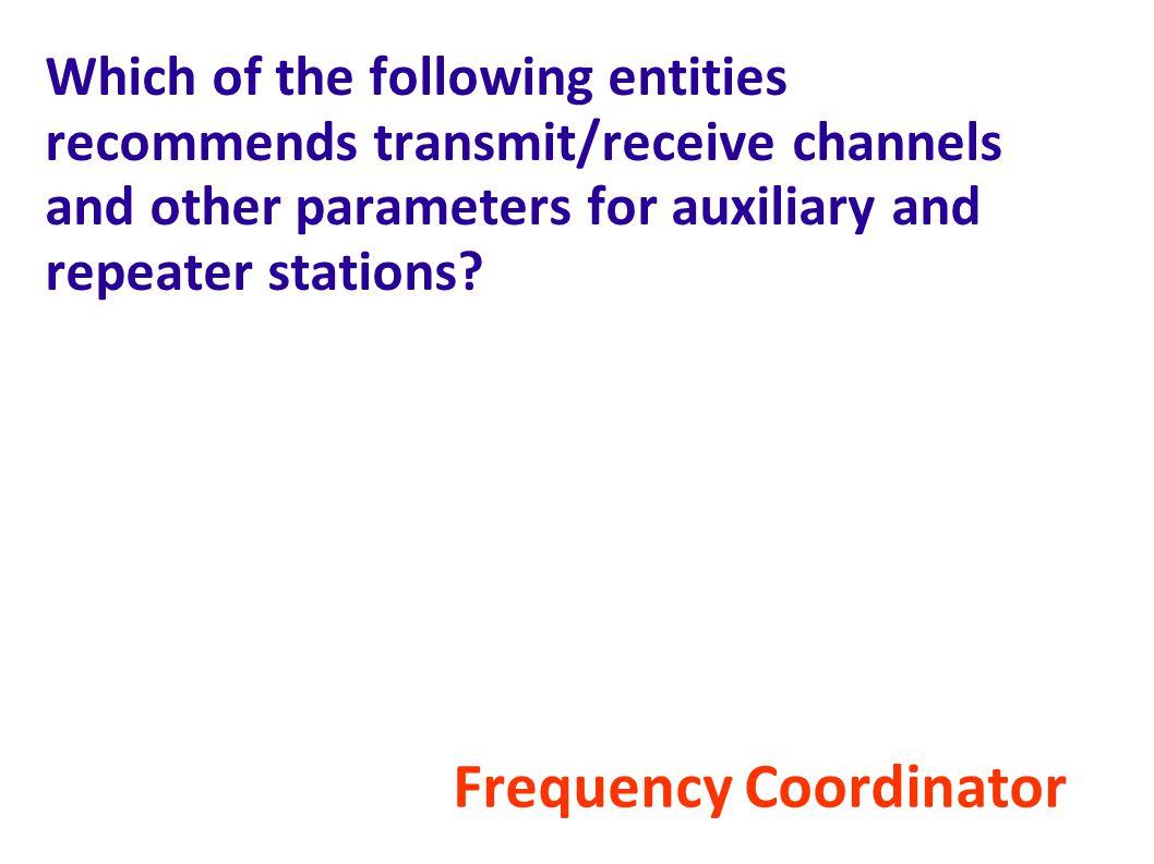 Frequency Coordinator