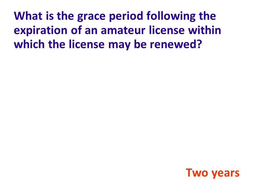 What is the grace period following the expiration of an amateur license within which the license may be renewed