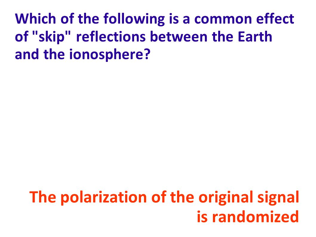The polarization of the original signal is randomized