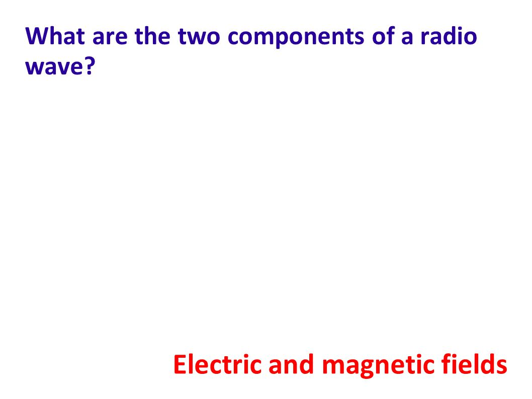 What are the two components of a radio wave