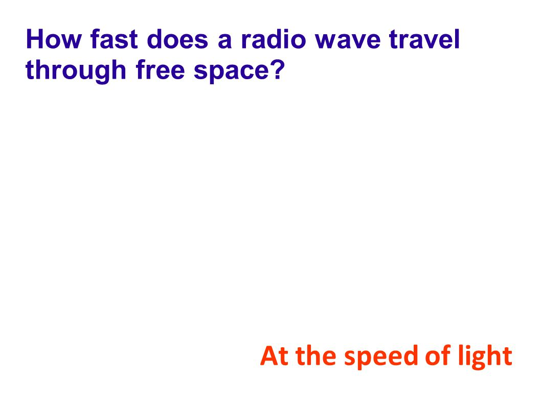 How fast does a radio wave travel through free space
