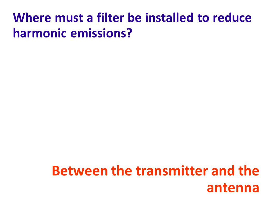 Where must a filter be installed to reduce harmonic emissions