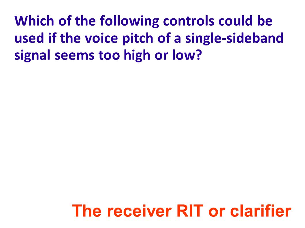 The receiver RIT or clarifier