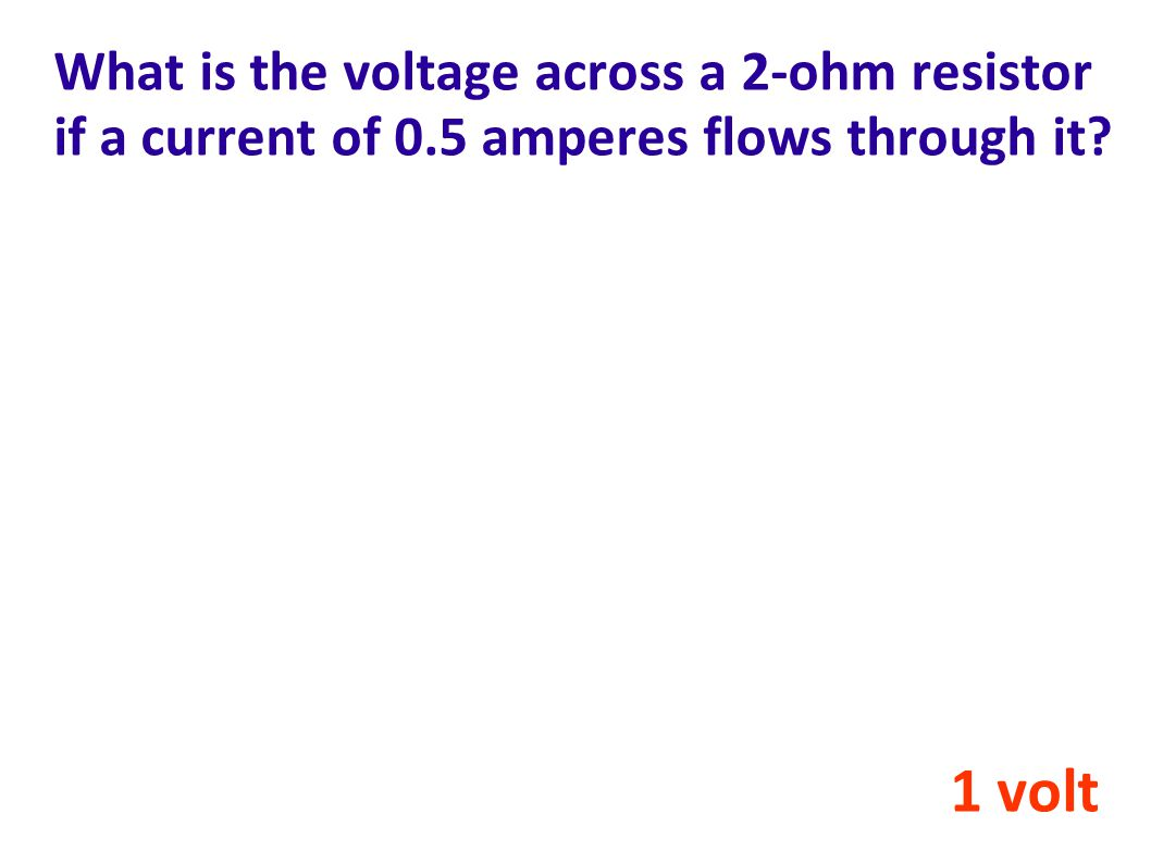 What is the voltage across a 2-ohm resistor if a current of 0
