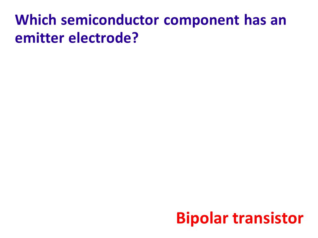 Which semiconductor component has an emitter electrode