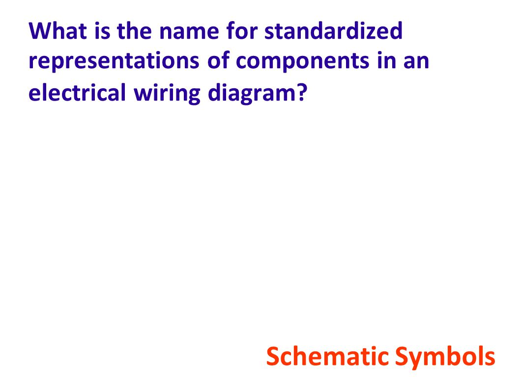 What is the name for standardized representations of components in an electrical wiring diagram