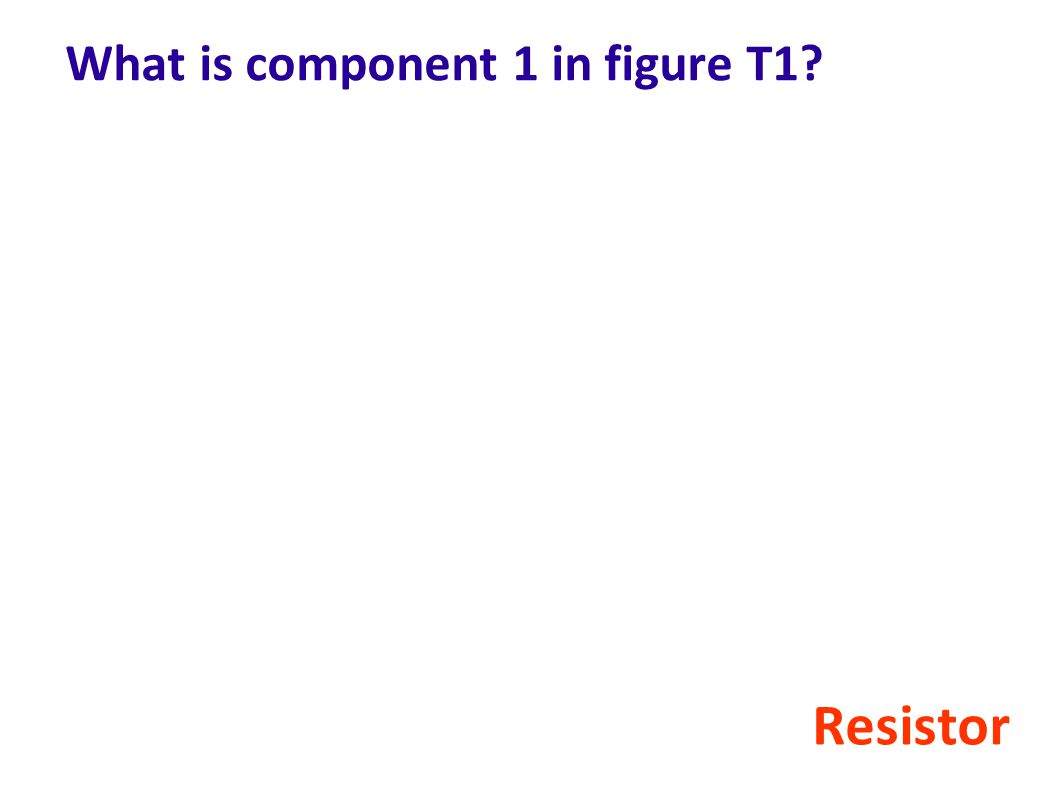 What is component 1 in figure T1