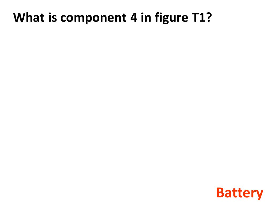 What is component 4 in figure T1