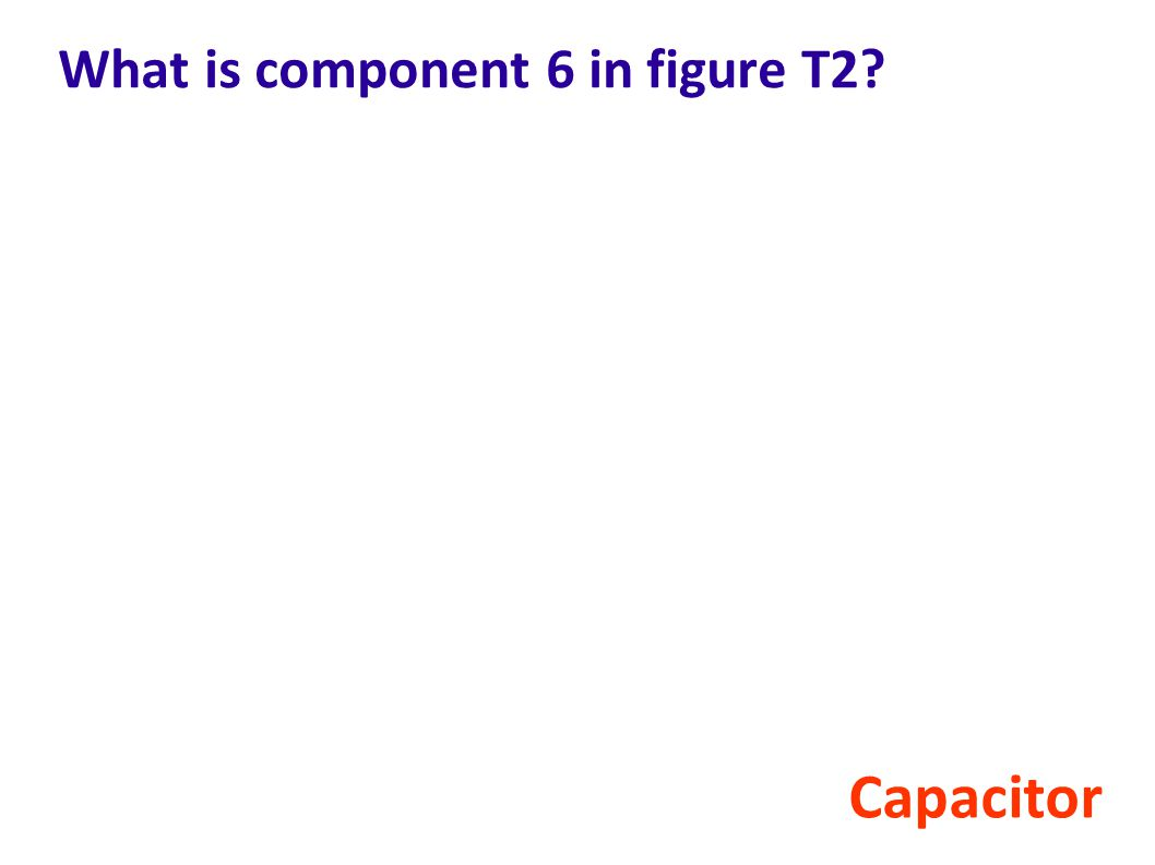 What is component 6 in figure T2
