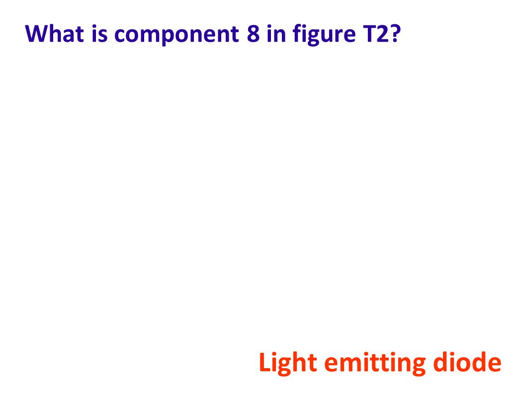 What is component 8 in figure T2