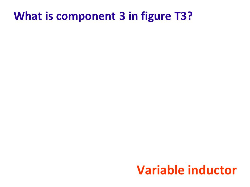 What is component 3 in figure T3