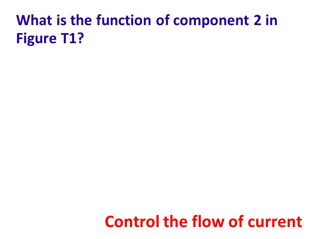 What is the function of component 2 in Figure T1