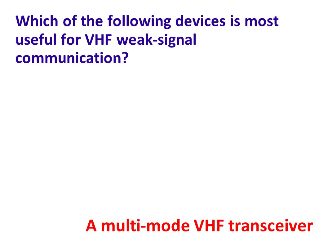 A multi-mode VHF transceiver