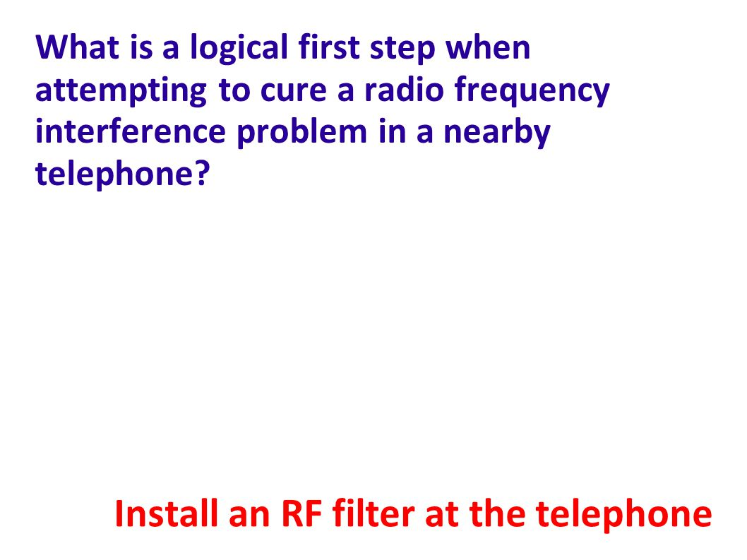 Install an RF filter at the telephone