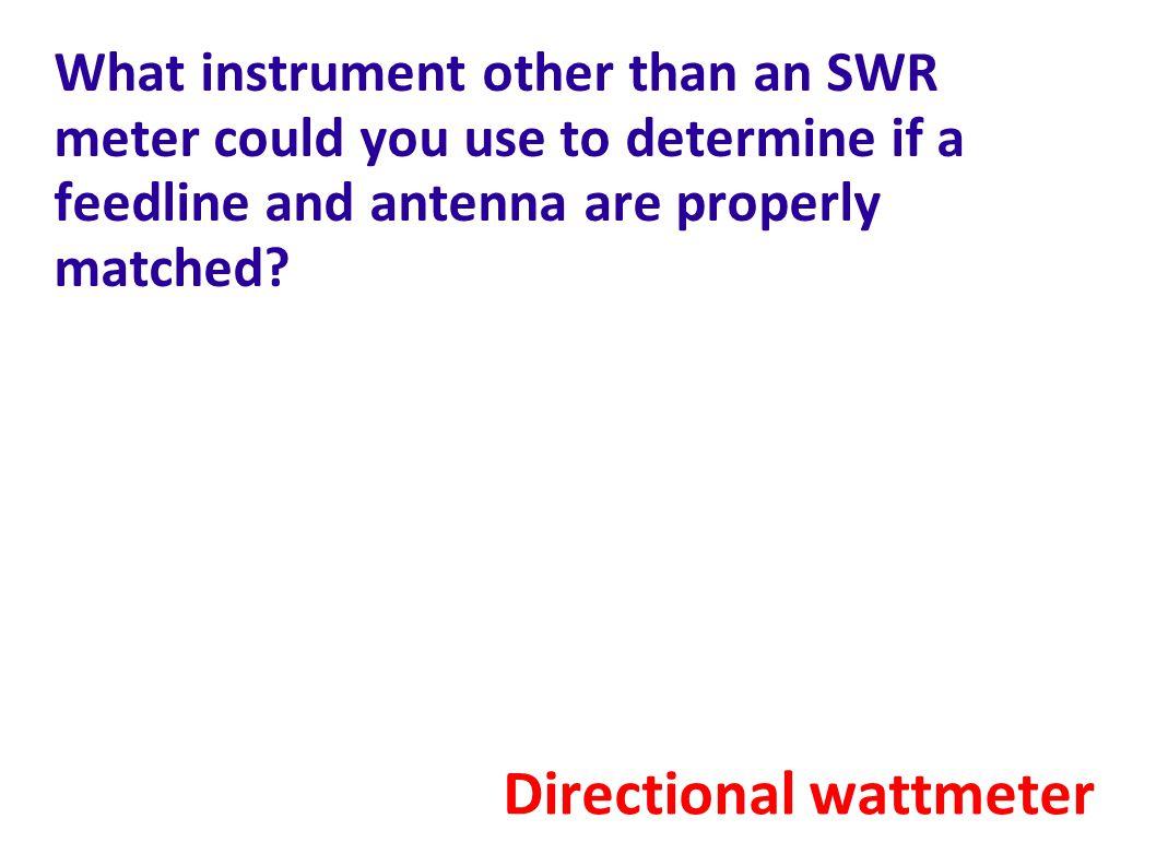 Directional wattmeter