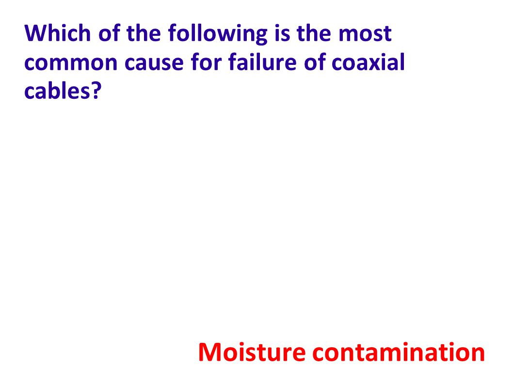 Moisture contamination