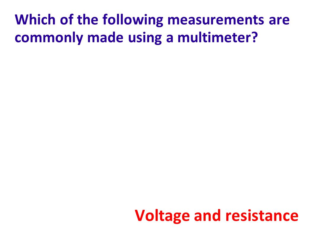 Voltage and resistance