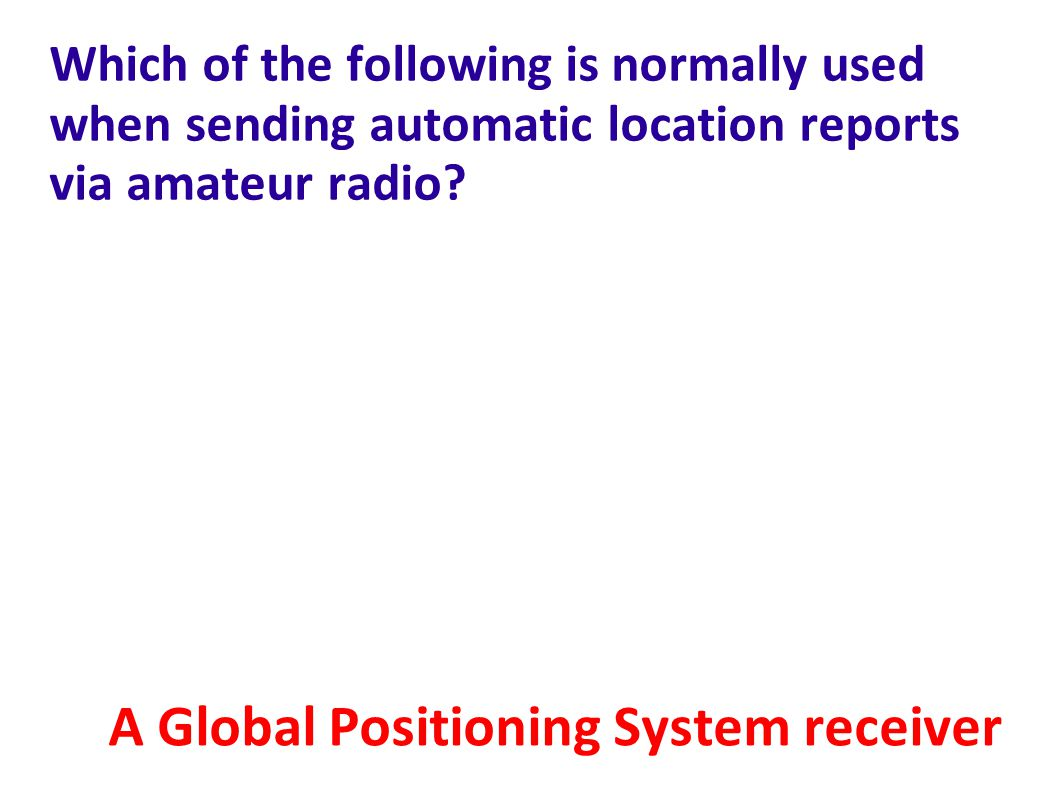 A Global Positioning System receiver