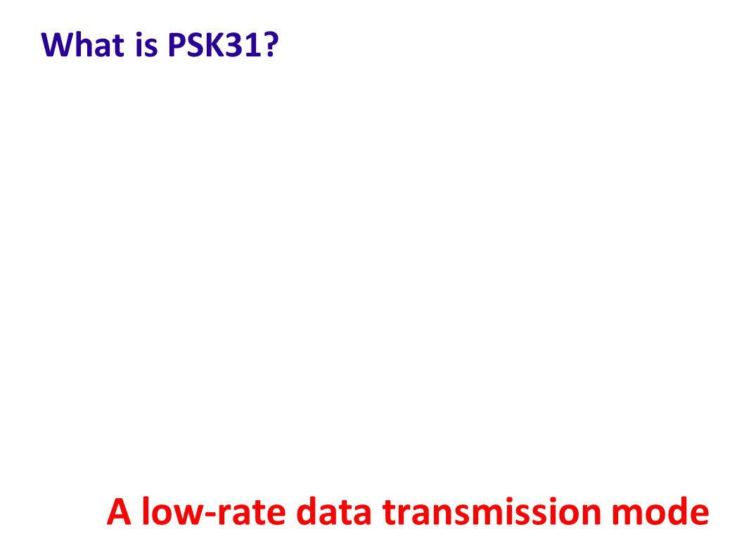 A low-rate data transmission mode