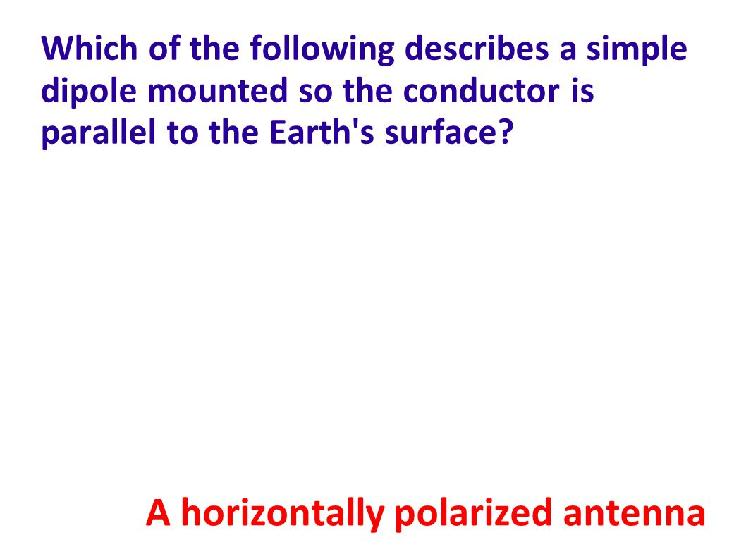 A horizontally polarized antenna