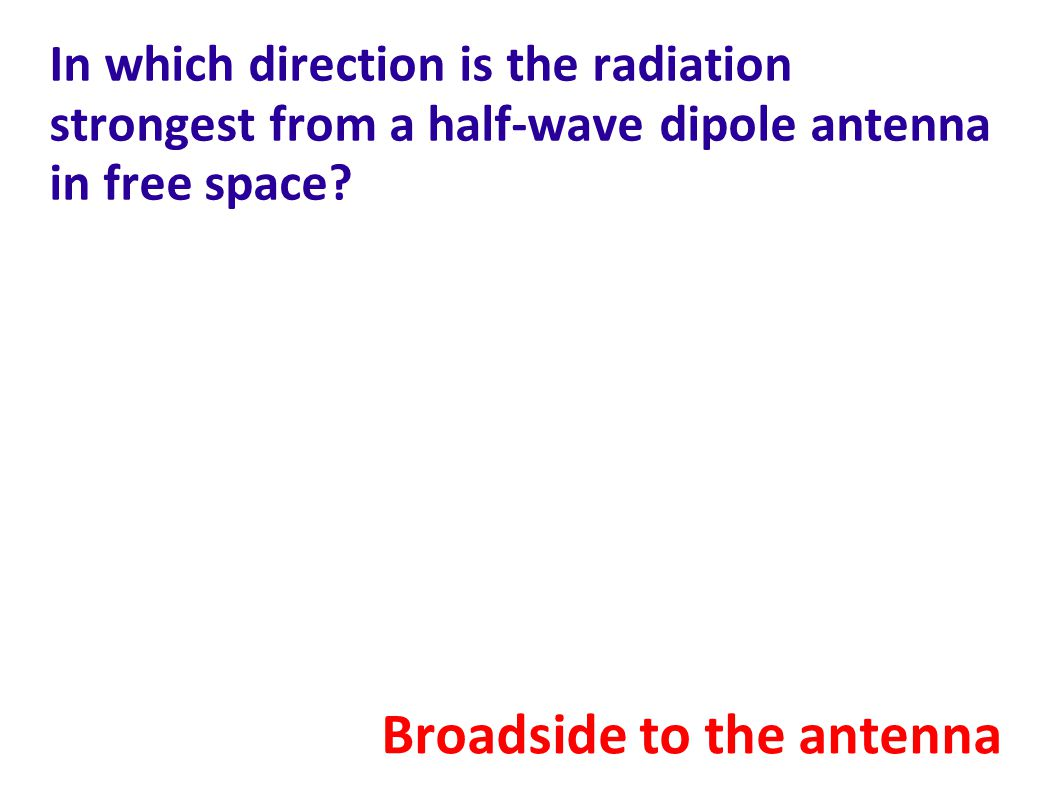 Broadside to the antenna