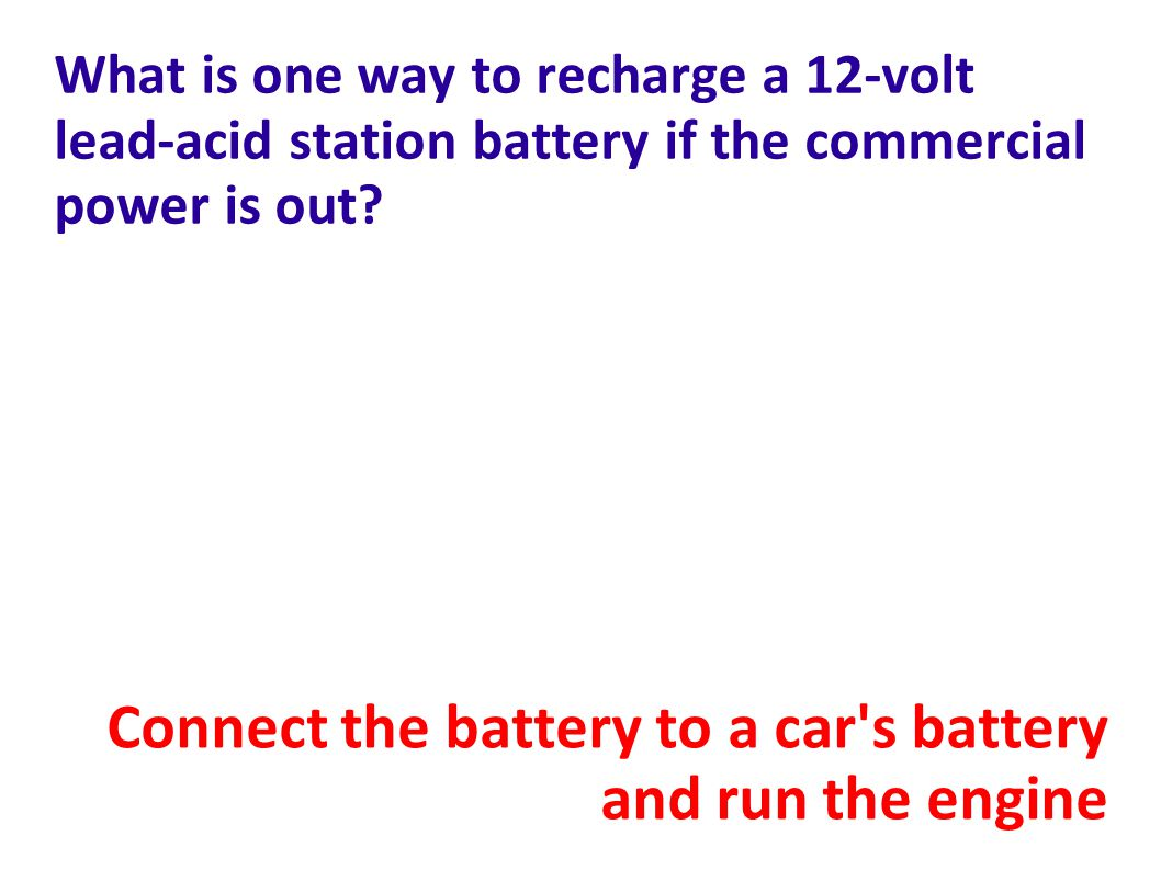 Connect the battery to a car s battery and run the engine