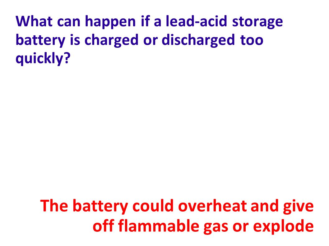 The battery could overheat and give off flammable gas or explode