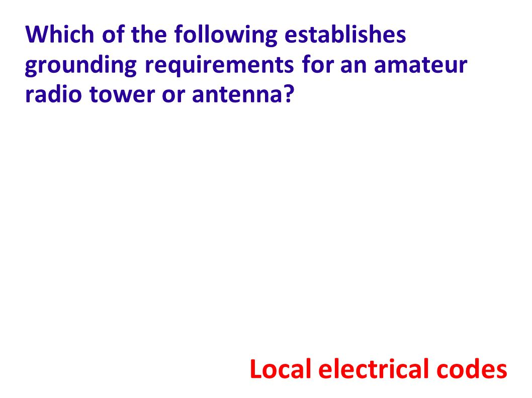 Local electrical codes
