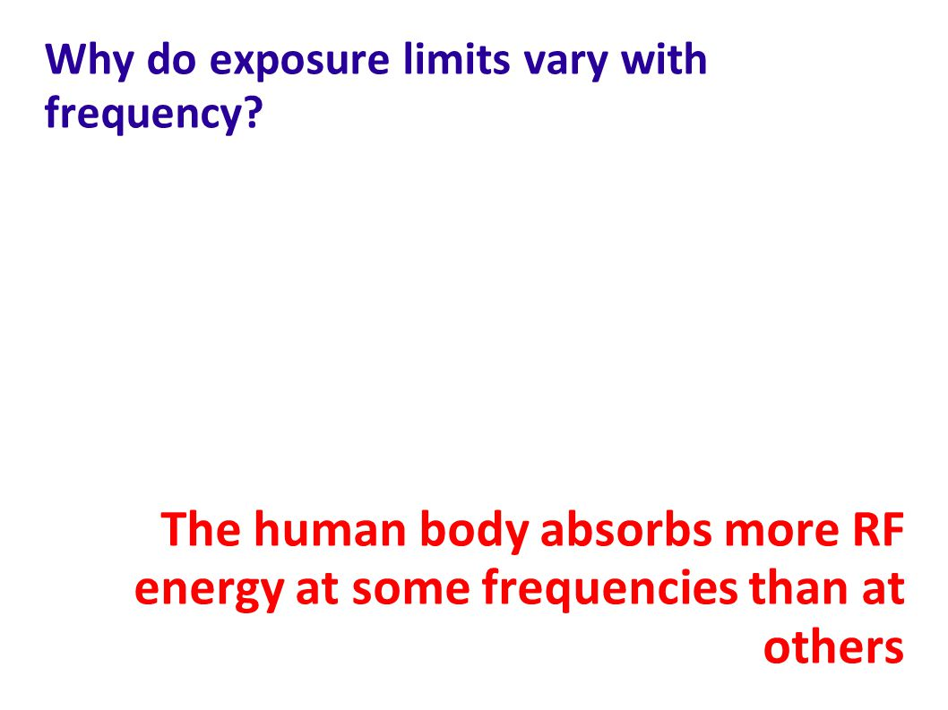 Why do exposure limits vary with frequency