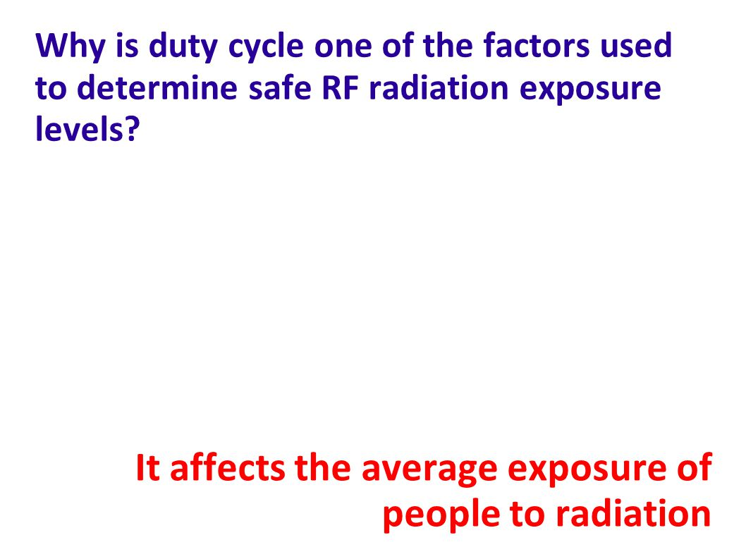 It affects the average exposure of people to radiation