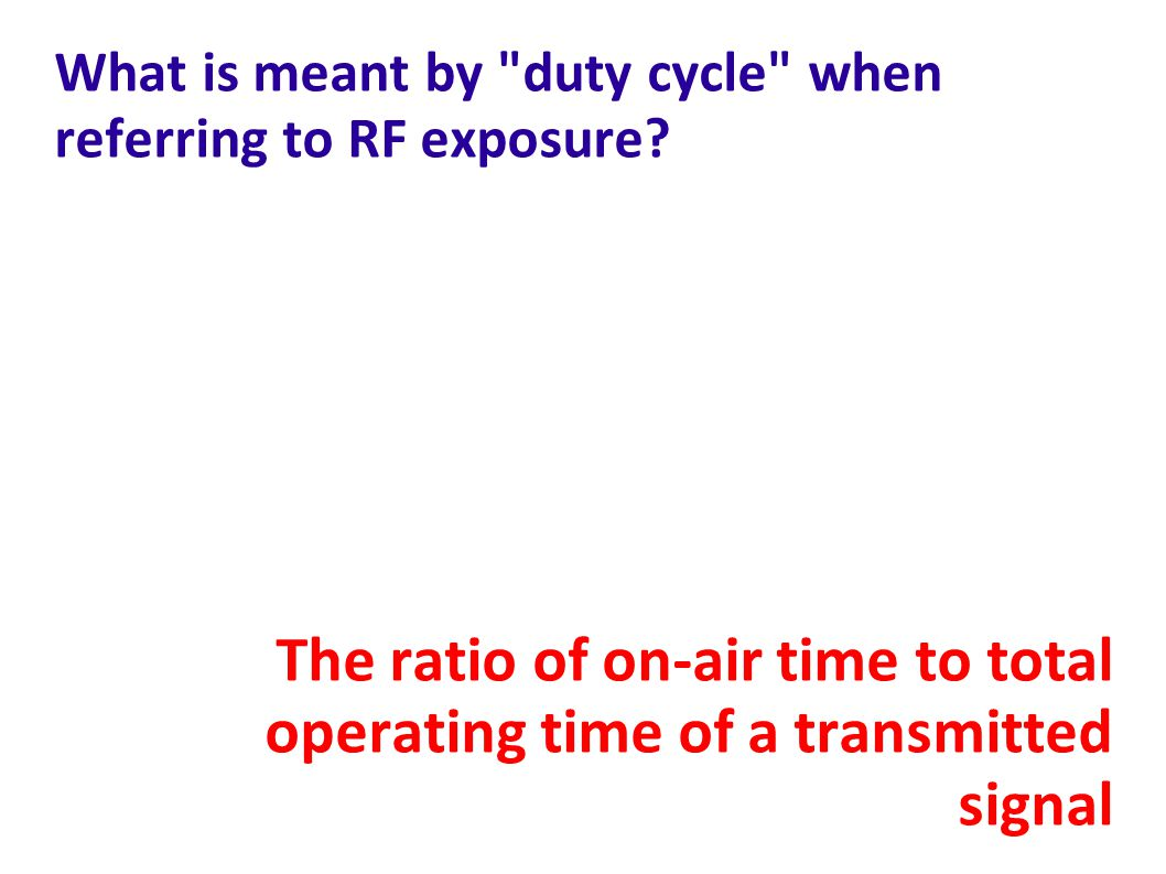 What is meant by duty cycle when referring to RF exposure