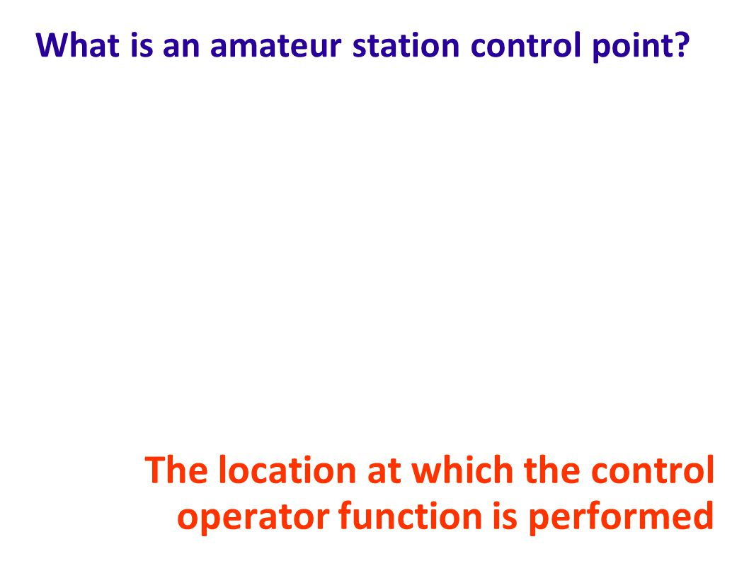 What is an amateur station control point