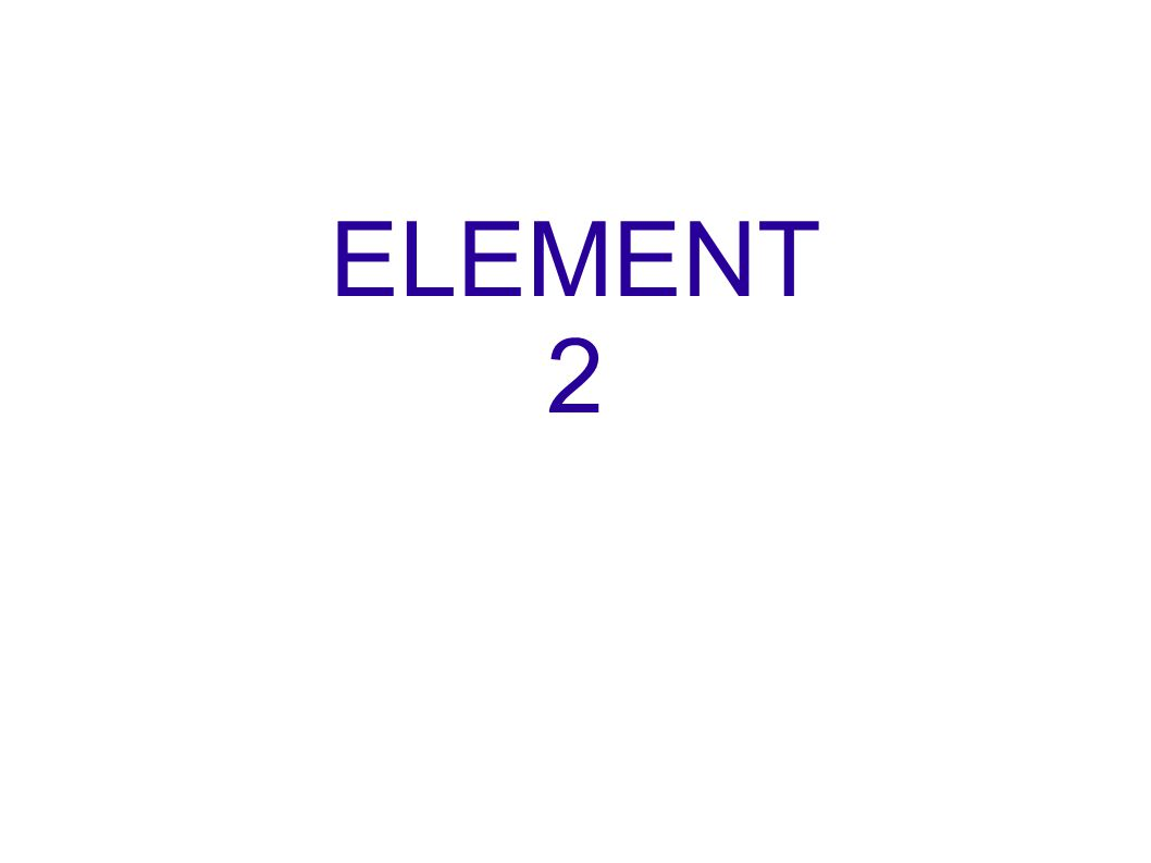 ELEMENT 2