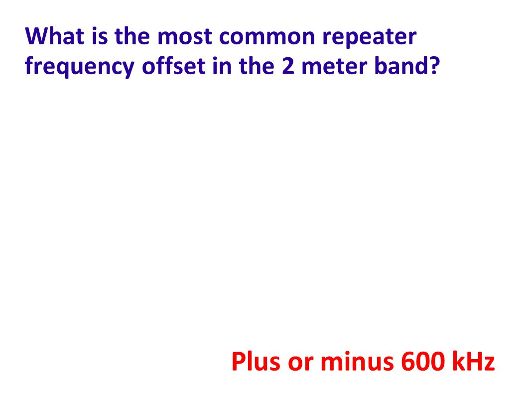 What is the most common repeater frequency offset in the 2 meter band