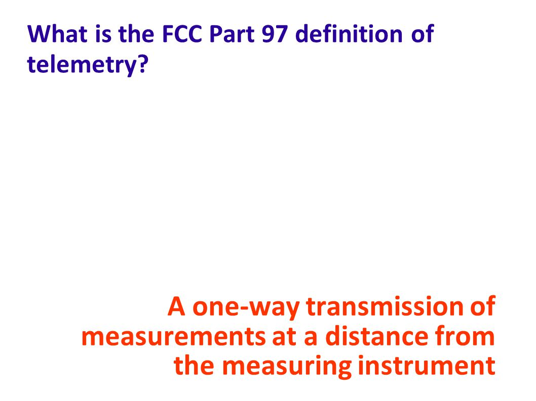 What is the FCC Part 97 definition of telemetry