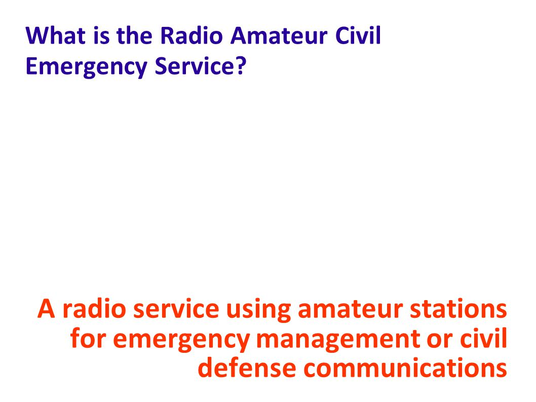 What is the Radio Amateur Civil Emergency Service