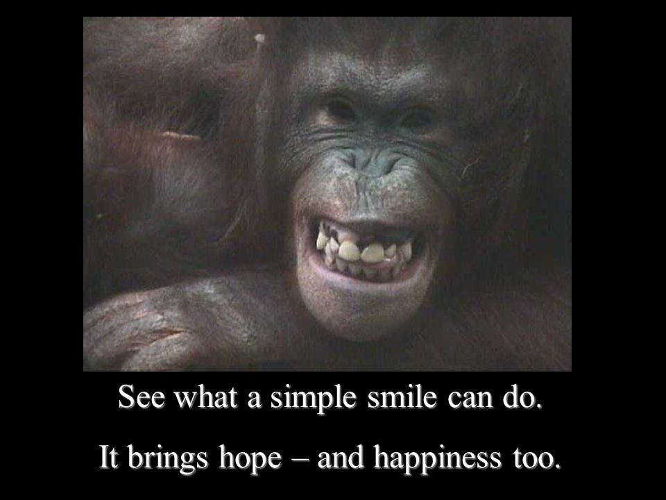 See what a simple smile can do. It brings hope – and happiness too.
