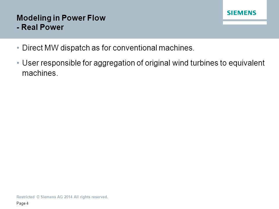 Modeling in Power Flow - Real Power