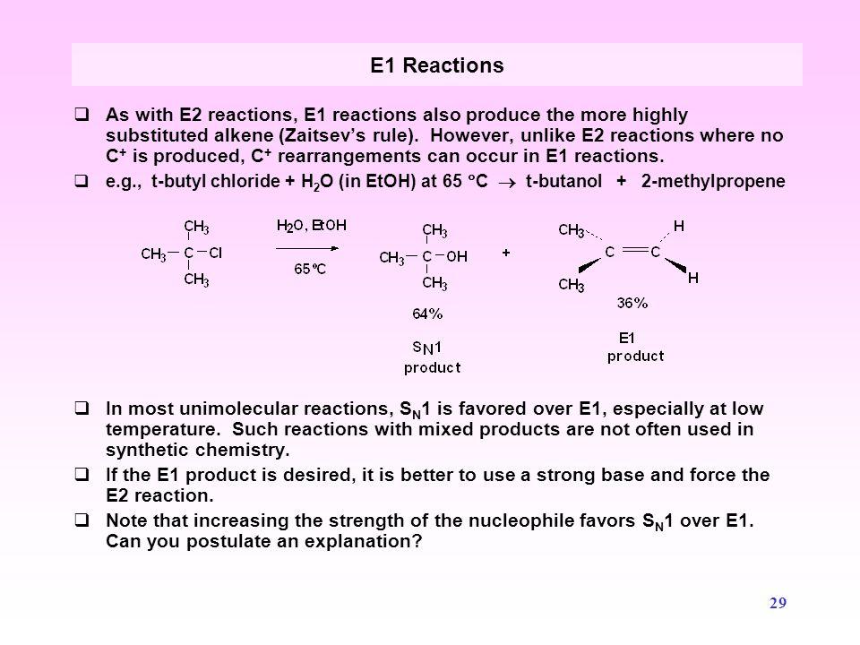 E1 Reactions